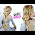 CUTE-HAIRSTYLE-FOR-LONG-OR-MEDIUM-HAIR-EASY-AND-CUTE-PONYTAIL-WITH-BRAIDS-Awesome-Hairstyles-