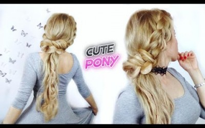 CUTE-HAIRSTYLE-FOR-LONG-OR-MEDIUM-HAIR-EASY-AND-CUTE-PONYTAIL-WITH-BRAIDS-Awesome-Hairstyles-1-1