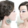 Hairstyle-for-long-hair-tutorial.-Bridal-updo-Bun