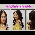 Indian-Bridal-Indowestern-Hairstyle-for-long-medium-hair-1
