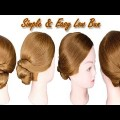 Quick-Simple-Easy-Low-Bun-Hairstyle-for-Long-Medium-Hair-Wedding-Bridal-Bun-Hairstyle-