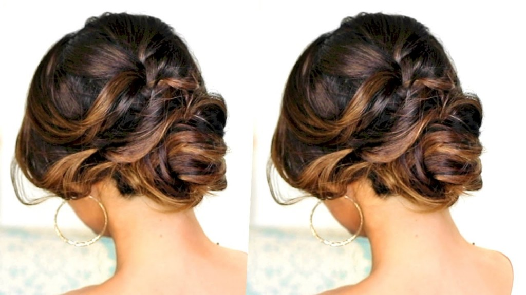 36 Messy Wedding Hair Updos: ROMANTIC MESSY BUN UPDO With CURLS