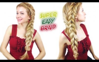 SUPER-EASY-HAIRSTYLE-FOR-MEDIUM-OR-LONG-HAIR-QUICK-AND-EASY-BRAID-Awesome-Hairstyles-