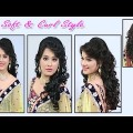 Soft-Curl-Hairstyle-for-Long-Medium-Hair-Indian-Bridal-Soft-and-Curl-Hairstyle