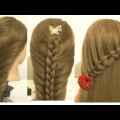2-Quick-Easy-Knotted-Loop-Waterfall-Braid-Plait-Hairstyles-for-Medium-Long-Hair-Tutorial
