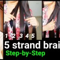 Everyday-Hairstyles5-Strand-BraidStep-by-StepIndian-hairstyles-for-long-hair-for-summers