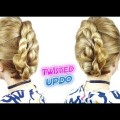 SUPER-EASY-HAIRSTYLE-FOR-MEDIUM-OR-SHORT-HAIR-EASY-LAZY-TWISTED-UPDO-Awesome-Hairstyles-