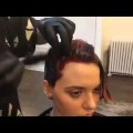Short-haircut-tutorial-for-women-Haircut-techniques-2017-How-to-Dye-hair-Part1-American-Salon