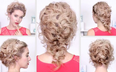 Summer-hairstyles-Curly-braided-updo-tutorial-for-medium-long-hair