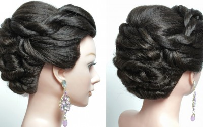 Twisted-Updo.-Bridal-hairstyle-for-long-hair.-Tutorial