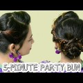 5-MINUTE-PARTY-BUN-HAIRSTYLE-EASY-Updo-Hairstyles-Hairstyles-For-Long-Hair-Medium-Hair