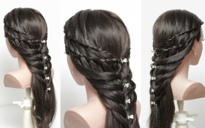 Beautiful-Hairstyles-For-Long-Hair.-Easy-Party-Hairstyles.-Hair-Tutorial