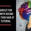 Best-Haircut-For-Women-With-Round-Face-And-Thin-Hair-At-Home-Tutorial-BJBM