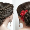 Bridal-hairstyle-for-long-hair-tutorial.-Updo-for-wedding
