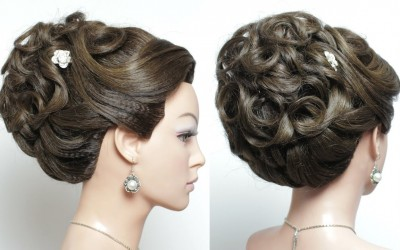 Bridal-hairstyle-for-long-hair-tutorial.-Wedding-Updo