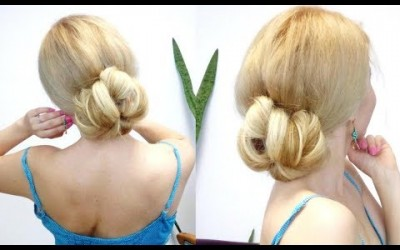 EASY-SUMMER-HAIRSTYLE-FOR-MEDIUM-OR-LONG-HAIR-QUICK-AND-EASY-BUN-Awesome-Hairstyles-