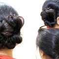 Easy-Simple-Side-Bun-Hairstyles-for-Medium-to-long-Hair-Party-Hairstyles