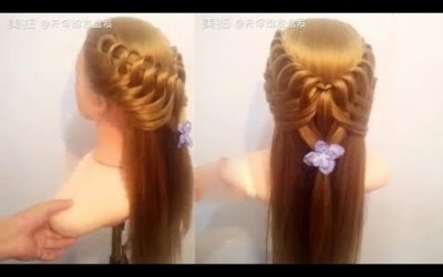 Easy-hairstyle-for-long-hair-Hairstyle-Tutorial-1