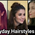 Everyday-QUICK-EASY-Hairstyles-for-medium-long-hair-Indian-hairstyles-Alia-bhatt-hairstyles