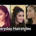 Everyday-QUICK-EASY-Hairstyles-for-medium-long-hairIndian-hairstyles-Alia-bhatt-hairstyles