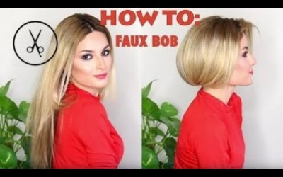 Hair-Styles-2017-How-to-fake-short-hair-faux-bob