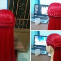 Hair-styling-easy-to-make-yourself-with-braid-Simple-hairstyle-for-long-hair