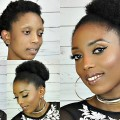 How-To-High-Puff-HairStyles-Tutorial-On-Short-4C-Natural-Hair