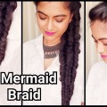 MERMAID-FISHTAIL-BRAID-with-trickEveryday-Indian-hairstyles-for-medium-long-hair-for-party