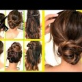 Short-Hair-2017-TOP-10-LAZY-RUNNING-LATE-HAIRSTYLES-HACKS-for-FRIZZY-HAIR-EASY-Spri