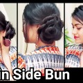 Bun-Hairstyle-for-SAREE-or-Ethnic-dresses-indian-Hairstyles-for-medium-to-long-hair