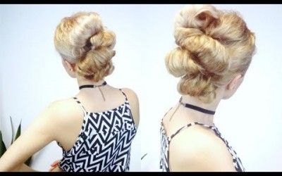 EASY-HAIRSTYLE-FOR-SHORT-OR-MEDIUM-HAIR-CUTE-BUBBLE-BUNS-UPDO-Awesome-Hairstyles-