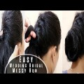 Easy-Bridal-Messy-Bun-at-HomeWedding-HairstylesBlack-HairstylesEasy-Hairstyles