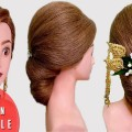 Easy-Low-Bun-Hairstyle-for-Wedding-and-Party-Wedding-Hairstyle-Easy-Hairstyles
