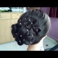 Latest-Messy-Bun-new-year-Hairstyle-2017Wedding-hairstyle-for-long-hairprom-braided-hairstyle
