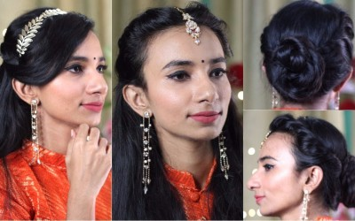 3-Easy-Indian-Party-Heatless-Hairstyles-for-MediumLong-Hair-Wedding-Puja-Occasion-Hairstyles
