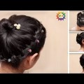 Beautiful-Bridal-hairstyle-for-long-hair-with-puffBridal-hairstyle-Tutorial-YouTube.