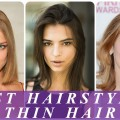 Best-hairstyles-for-thin-straight-hair-2018-for-women