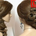 Easy-prom-wedding-hairstyle-braided-flower-updo-for-long-hair-tutorial