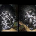 FLOWER-BRAIDED-BUN-FOR-LONG-HAIRS-BEAUTIFUL-PARTY-HAIR-STYLE