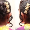 Flower-Bun-Hair-style-for-Long-Hair-Bridal-Bun-Hair-style-Perfect-Bun-Hair-style