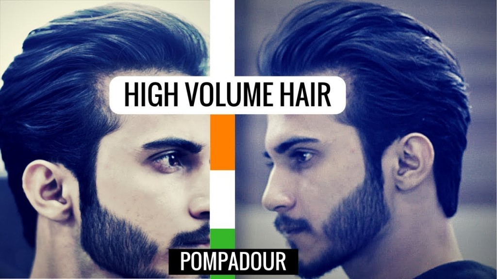 High Volume Hairstyle For Men Pompadour Hairstyle Haircut For