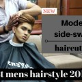 Modern-mens-side-swept-Blonde-hair-dye-Latest-mens-hairstyle-tutorial-2017