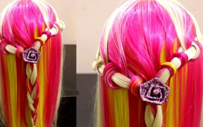 New-Hair-Updo-Braid-With-Long-Straight-Hairs-Knoted-Braid-Hairstyle