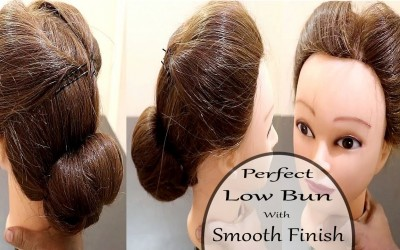 Perfect-Low-Bun-with-Smooth-FinishWedding-HairstyleNew-Hairstyles