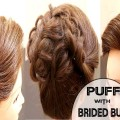Puff-with-Braided-BunFloral-BunBeautiful-BunWedding-HairstylesBlack-Hairstyles