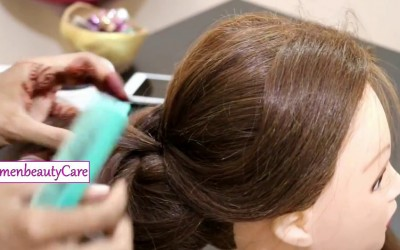 Scrolled-Bun-With-Twisted-EndsHair-Styles-Involving-CurlsBridal-Hairstyles