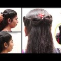 Simple-Hair-Bow-Hairstyle-for-Short-and-Long-Hair-Hair-style-videos-2017
