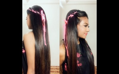 Sweet-and-Simple-Hairstyle-For-Short-Medium-Long-Hair-Tutorial