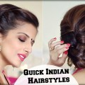 2-ELEGANT-Indian-Hairstyles-With-A-Puff-For-Diwali-For-Medium-To-Long-Hair-Indian-Wedding-Occasions
