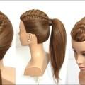 2-Easy-Hairstyles-For-Long-Hair-Tutorial.-Ponytail-And-Updo-With-Braids